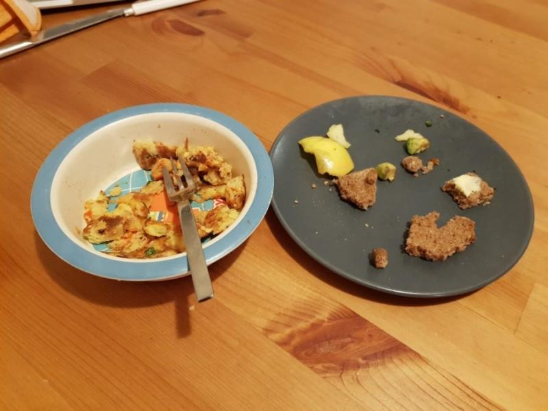 Erst das eine nicht essen wollen und dann das andere auch noch übrig lassen. Alltag mit Foodwaste.