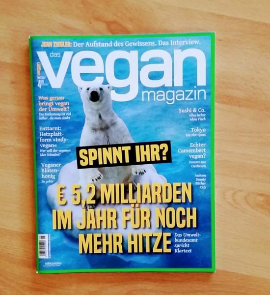 Das Vegan Magazin, 4,90 Euro