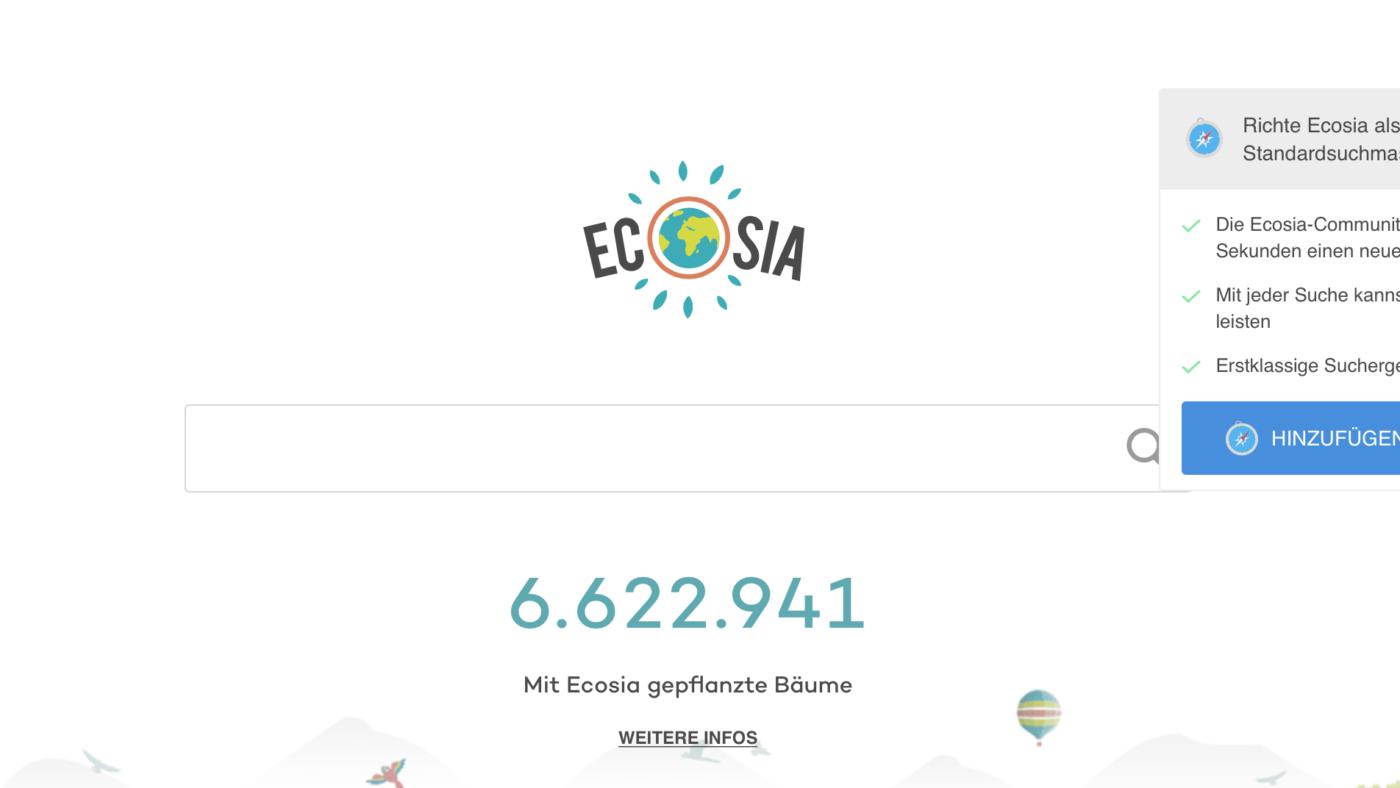 Welche Suchmaschine soll man als guter Mensch benutzen? Google oder Ecosia?