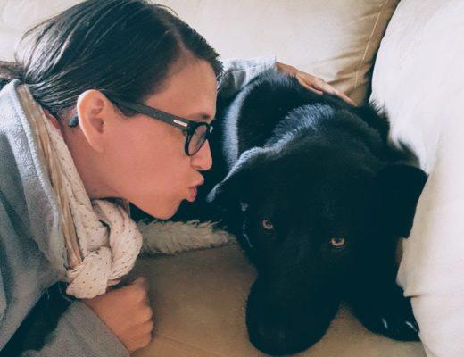 Johnny und ich: Einst hatte ich Angst vor ihm, aber jetzt habe ich meine Angst vor Hunden durch Hypnose überwunden.